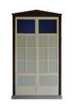 Single retro white door Royalty Free Stock Images