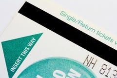 Single/Return Ticket Royalty Free Stock Photo