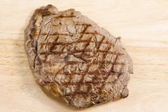 Single rib eye steak Stock Photography
