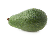 Single ripe avocado fruit isolated Stock Photos