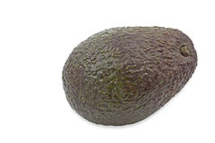 Single ripe avocado on white background Royalty Free Stock Image