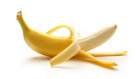 Single ripe banana Royalty Free Stock Image