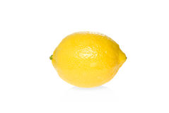 Single ripe lemon Royalty Free Stock Photo