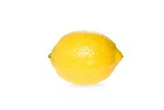 Single ripe lemon. Isolated on the white background Royalty Free Stock Photo