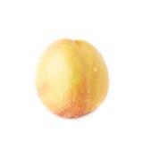 Single ripe nectarine isolated Royalty Free Stock Images