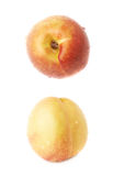 Single ripe nectarine isolated Royalty Free Stock Image