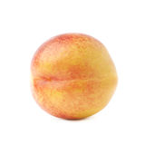 Single ripe nectarine isolated Royalty Free Stock Photography