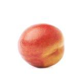 Single ripe nectarine isolated Stock Photo
