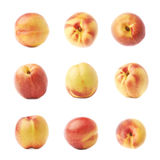 Single ripe nectarine isolated Stock Images