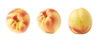 Single ripe nectarine isolated Royalty Free Stock Photos