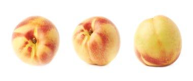 Single ripe nectarine isolated Royalty Free Stock Photos