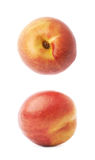 Single ripe nectarine isolated Royalty Free Stock Photo