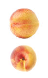Single ripe nectarine isolated Stock Photo