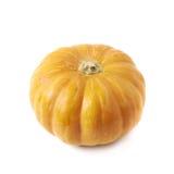 Single ripe orange pumpking isolated Stock Image