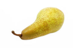 Single ripe pear on white background Royalty Free Stock Photos