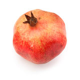 Single ripe pomegranate fruit Stock Photo