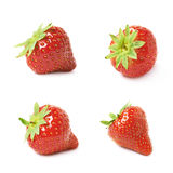 Single ripe red strawberry isolated Stock Photo
