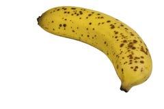 Single Ripe Yellow Banana on White Background Royalty Free Stock Photo