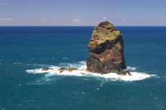Single Rock in the Sea Royalty Free Stock Image