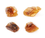 Single rock sugar crystal isolated Royalty Free Stock Photo