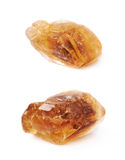 Single rock sugar crystal isolated Royalty Free Stock Photography