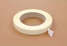 Single roll of masking tape Royalty Free Stock Images