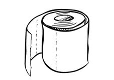 Free Single Roll Of Toilet Paper. Royalty Free Stock Image - 105594236