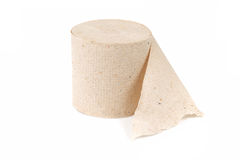 Single roll of recycled toilet paper Royalty Free Stock Photography