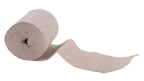 Single roll of  toilet paper Royalty Free Stock Images