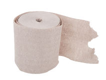 Single roll of  toilet paper Royalty Free Stock Photography
