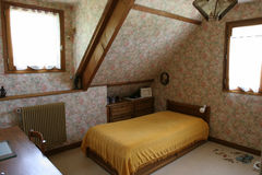 Single room. Attic single room stock photo