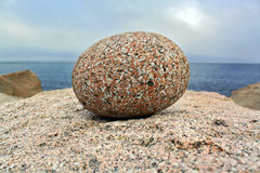 Single round stone Royalty Free Stock Images