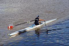 SINGLE ROWING Stock Photo