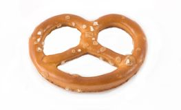 Single salted pretzel Stock Photo