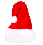 Single Santa Claus red hat isolated Royalty Free Stock Images