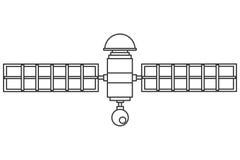 Single satelite icon. Flat design single satelite icon illustration vector illustration