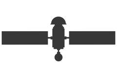Single satelite icon. Flat design single satelite icon illustration royalty free illustration