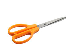 Single scissor with orange handle. Stationary Stock Image
