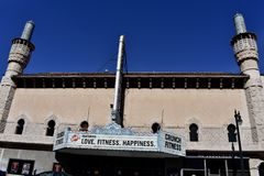 Alhambra theater Crunch fitness joint operation, 3. stock photography