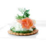 Single Seafood Salad Canape Royalty Free Stock Photography