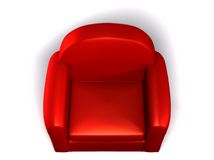 Single seat sofa. Red sofa on white background. Single seated vector illustration