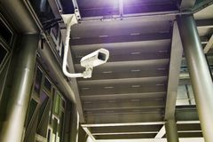 Single Security Camera Stock Photography