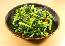 Single Serving of Chinese Vegetables Stock Photo