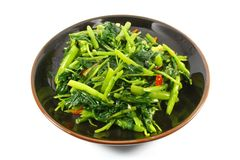 Single Serving of Chinese Vegetables Royalty Free Stock Images