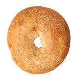 Single sesame bagel Stock Photography