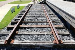 Single Set of Railroad Tracks Stock Image