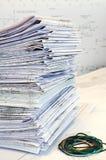 Single-sheet kantoorbehoeften van projecttekeningen Stock Foto