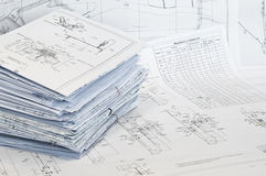 Single-sheet stationery of design drawings Royalty Free Stock Photos