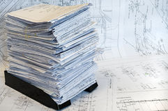 Single-sheet stationery of project drawings Royalty Free Stock Photography