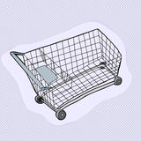 Single Shopping Cart Royalty Free Stock Image